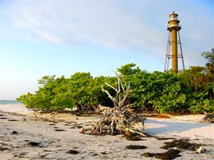 Lighthouse Beach on Sanibel Island, FL