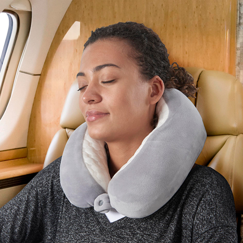 TALUS Quilted Memory Foam Travel Pillow